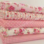 Teaparty rose bundle 5 fat quarters or 5 metre bundle 100 % cotton fabric - size:5 FAT QUARTER BUNDLE