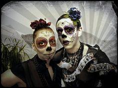 Horror Gesicht Schminken für Halloween