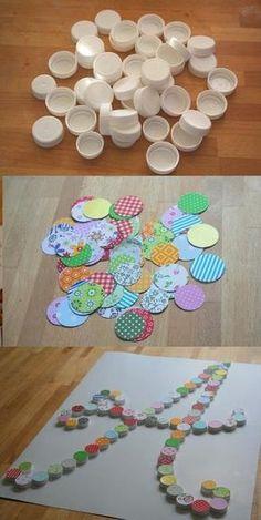 ideas con tapas recicladas