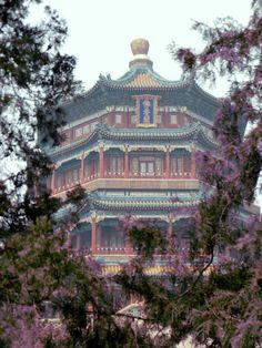 The pagoda at the Summer Palace in Beijing, China.