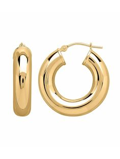 The perfect chunky Gold Hoops from @Bon-ton. #MayisGoldMonth #Gold #JumpinThroughHoops #MIGM