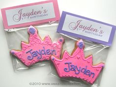 princess cookies - Goodie bags - goody bags for kids party - birthday goodie bags - birthday gift ideas - party favors