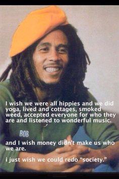 Legend Bob Marley, redo society