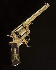 peashooter85:  A gold damascened Tranter revolver crafted by Charles Nephew & Co. of Calcutta, India, circa 1865.