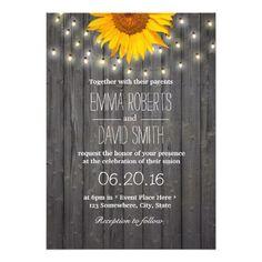 Sunflower & String Lights Barn Wood Wedding
