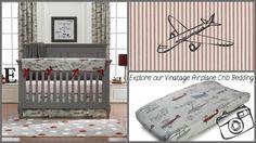 Liz and Roo Vintage Airplane Nursery Baby Bedding Vintage Airplane Nursery, Aviation Nursery, Airplane Room, Woodland Crib Bedding, Baby Girl Bedding, Future Children, Baby Boy Nurseries, Camden, Bed Design
