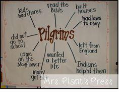 Mrs. Plant's Press: Pilgrims! Thanksgiving Preschool, Fall Preschool, Preschool Lessons, Kindergarten Activities, Thanksgiving History, Preschool Activities, Kindergarten Anchor Charts, Kindergarten Social Studies, Teaching Social Studies