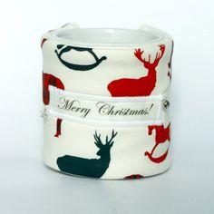 Ocieplacz na kubek jelenie święta christmas prezent cup warmer (proj. Kapeluszniczka), do kupienia w DecoBazaar.com
