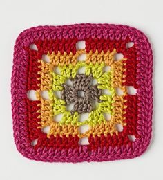 21 free crochet squares with written patterns and diagrams at the Simply Crochet mag website.