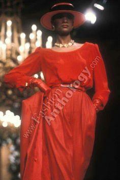 YSL H.C 1981/82 Model Gloria Burgess