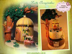 2 Partido corujinhas + fiesta + escenográfica torta infantil