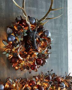 Christmas Candy, White Christmas, Christmas Home, Christmas Wreaths, Christmas Decorations, Holiday Decor, Merry Christmas, Bronze, How To Make Wreaths