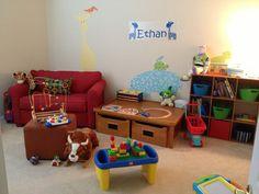 Toddler neutral playroom