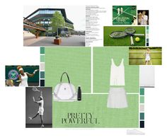 """""""Wimbledon"""" by khadamsribjh ❤ liked on Polyvore featuring Champion, Fila, The Row, Common Projects, Seed Design, Topshop, S'well, white, black and athletic"""