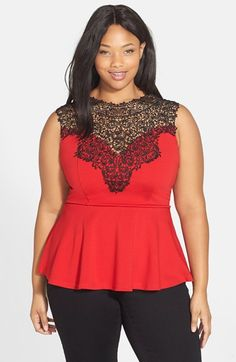 City+Chic+'Lace+Love'+Top+(Plus+Size)+available+at+#Nordstrom