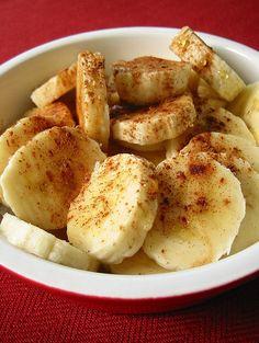 Baked Bananas With Honey & Cinnamon  (Dessert on the Mediterranean Diet?) #MediterraneanDiet,