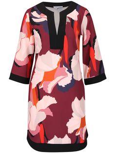 Krémovo-vínové vzorované voľnejšie šaty Closet