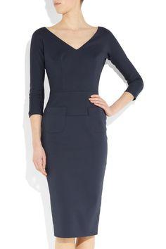 Wardrobe essential. Victoria Beckham cotton blend dress.