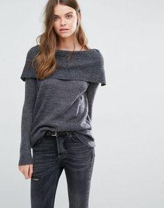 J.D.Y Off the Shoulder Knit Sweater