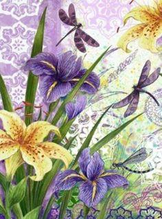 Raindrops and Roses Decoupage Vintage, Decoupage Paper, Vintage Paper, Flower Images, Flower Pictures, Botanical Prints, Floral Prints, Raindrops And Roses, Printable Pictures