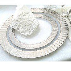 BLUM\u0027S PAPER GOODS - Elegant Dining candles napkins plastic cutlery square plates  sc 1 st  Pinterest & Image result for clear plastic plates | Wedding Ideas | Pinterest ...