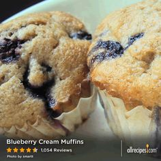 July 11: National Blueberry Muffin Day | Blueberry Cream Muffins