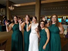"""""""Met these four bridesmaids at Baylor. Here we are showing off our #SicEm skills!"""""""
