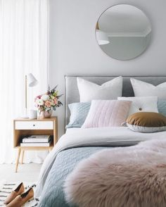 46 Spring Bedroom Design Ideas On 2019 Bedroom Design Trends, Spring Bedroom, Scandinavian Bedroom, Bedroom Interior, Bedroom Trends, Modern Bedroom, Scandinavian Design Bedroom, Pastel Bedroom, Scandinavian Interior Bedroom