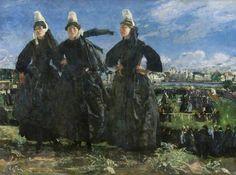 Les Courses, Peinture de Lucien Simon (Peintre Breton)