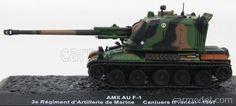 EDICOLA BLINDCOMBAT005 Scale 1/72  PANHARD TANK AMX AU F-1 3e REGIMENT D'ARTILLERIE DE MARINE FRANCE CANJUERS 1997 CAMOUFLAGE