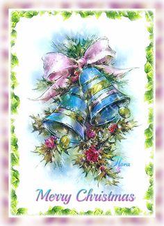 * Beautiful vintage design Christmas card *