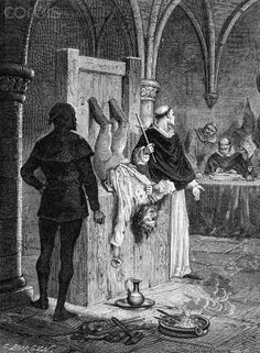 Victim of the Inquisition Undergoing Torture - DS002582 - Rights Managed - Stock Photo - Corbis