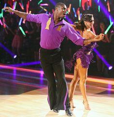 Jacoby Jones and Karina Smirnoff dance cha cha season 16 premiere of Dancing With the Stars.