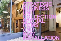 STRATEGIC BUSINESS UNIT special collection.