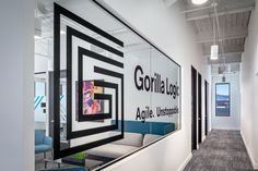 The Gorilla Logic team selected Abel Design Group's Denver office to create an office design that echoed the brand's personality - agile, unstoppable, polished, and exuberant. Corporate Interior Design, Corporate Interiors, Denver, Personality, Group, Create, Projects, Log Projects, Blue Prints