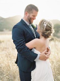 Romantic Magic Hour Wedding Portraits in a Field of Wheat | Steve Steinhardt Photography | http://heyweddinglady.com/craft-beer-brewery-wedding-ideas-style/