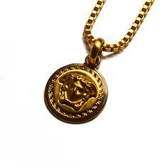 Small Versace Medusa Head Medallion Chain