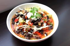 Love II Cook: Vegetarian Gumbo and Black bean quesadilla with minty sour cream