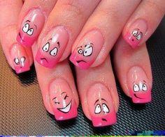 Funny nail design
