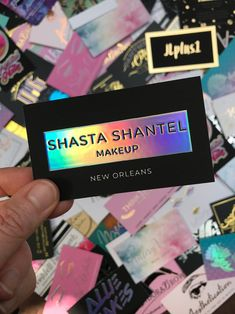 lash business cards Business Cards for Makeup Artist in New Orleans Holographic Foil Business Cards, Makeup Artist Business Cards, Custom Business Cards, Business Card Design, Etsy Business, Business Ideas, Makeup Artist Logo, Nail Artist, Holographic Foil