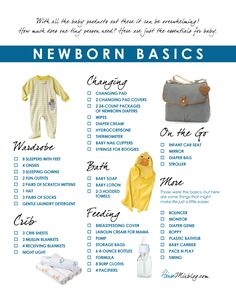 New Baby Checklist - What To Get When Expecting
