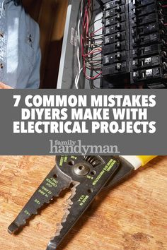 7 Common Mistakes DIYers Make with Electrical Projects 7 Common Mistakes DIYers Make with Electrical Projects,Electrical Repair and Wiring 7 Common Mistakes DIYers Make with Electrical Panels Related posts:Flowerbed idea - Small cabin interiorsSmall. Residential Electrical, Home Electrical Wiring, Electrical Projects, Electrical Engineering, Electrical Problems, Diy Home Repair, Diy Electronics, Electronics Projects, Home Repairs
