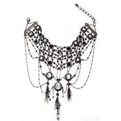 Minds Eye Necklace ❤ liked on Polyvore featuring jewelry, necklaces, black white necklace, holiday jewelry, black and white jewelry, special occasion jewelry and cocktail jewelry