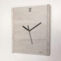 Reloj Madera  Marmol