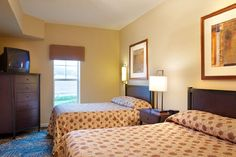 Two-bedroom suites at the Suites at Hershey  feature double beds–perfect for larger families. - Suites at Hershey, Ascend Hotel Collection® #GoNative