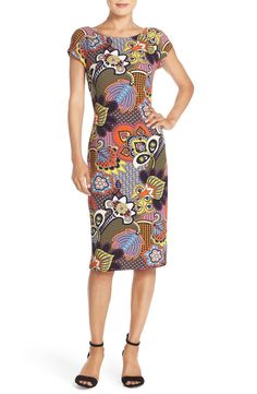Free shipping and returns on ECI Print Piqué Midi Dress at Nordstrom.com. A bold, abstract floral print styles the bright, piqué fabric texturing this lean-fitting dress in a sleek midi length.