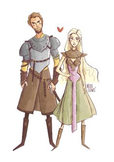 """my place is by your side"" Game of Thrones sketch 
