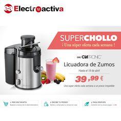 ¡Aprovechate de nuestros #Superchollos semanales! Esta semana hasta el 19 de abril LICUADORA CLATRONIC AE 3666 A 39,99 € https://www.electroactiva.com/clatronic-ae-3666-licuadora-semi-profesional.html #Elmejorprecio #Chollo #Licuadora #Electrodomestico