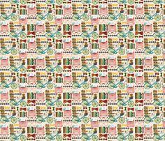 Vintage Book Nerd fabric by sara_berrenson on Spoonflower - custom wallpaper