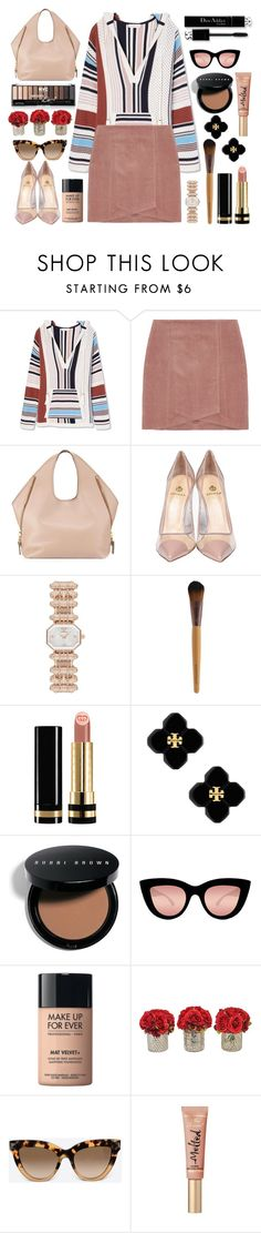 """FaYe #2547"" by gaburrus ❤ liked on Polyvore featuring Tory Burch, Tom Ford, Semilla, Emporio Armani, Gucci, Bobbi Brown Cosmetics, Quay, MAKE UP FOR EVER, Valentino and Too Faced Cosmetics"
